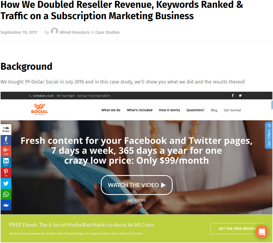 How We Doubled Reseller Revenue, Keywords Ranked & Traffic on a Subscription Marketing Business